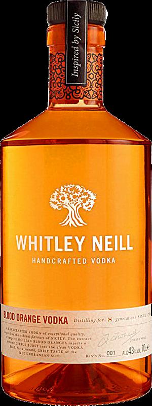 Personalised Whitley Neill Blood Orange Vodka 70cl engraved bottle