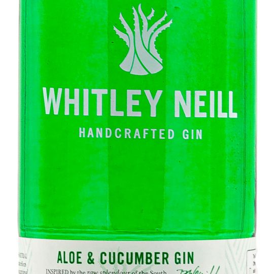 Personalised Whitley Neill Aloe & Cucumber Gin 70cl Engraved Flavoured Gin engraved bottle