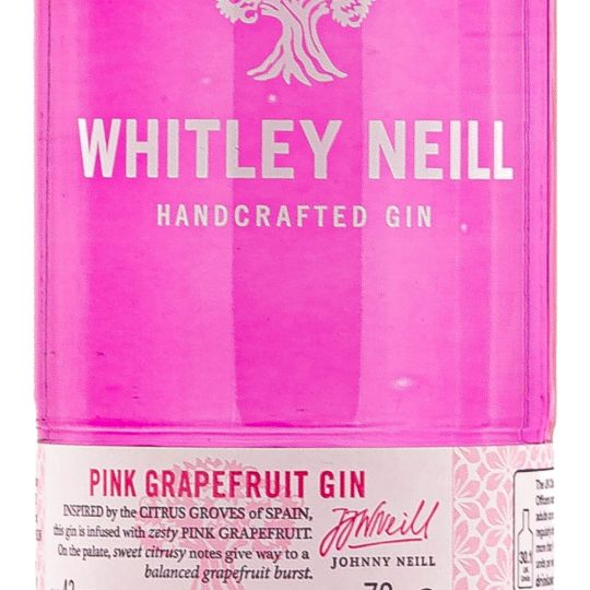 Personalised Whitley Neill Pink Grapefruit 70cl Engraved Flavoured Gin engraved bottle