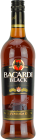 Personalised Bacardi Black 70cl engraved bottle