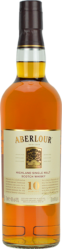 Personalised Aberlour 10 Year Old Whisky 70cl engraved bottle