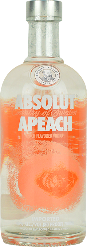 Personalised Absolut APeach Vodka 70cl engraved bottle