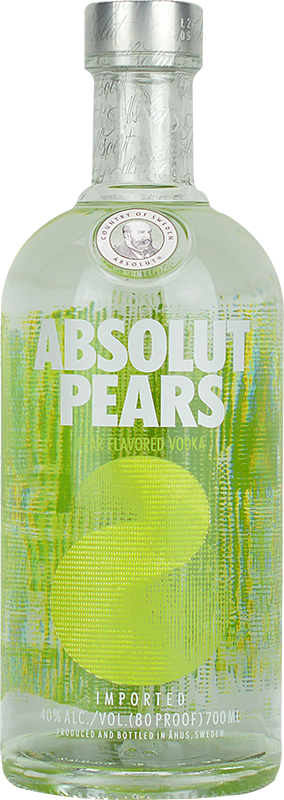 Personalised Absolut Pears Vodka 70cl engraved bottle