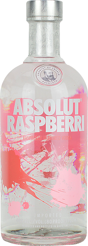 Personalised Absolut Raspberri Vodka 70cl engraved bottle