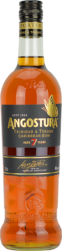 Personalised Angostura 7 Year Old Dark Rum 70cl engraved bottle