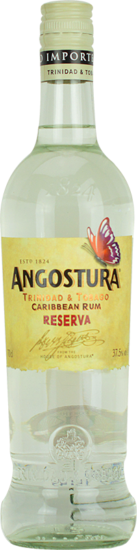Personalised Angostura Reserva 3 Year Old White Rum 70cl engraved bottle