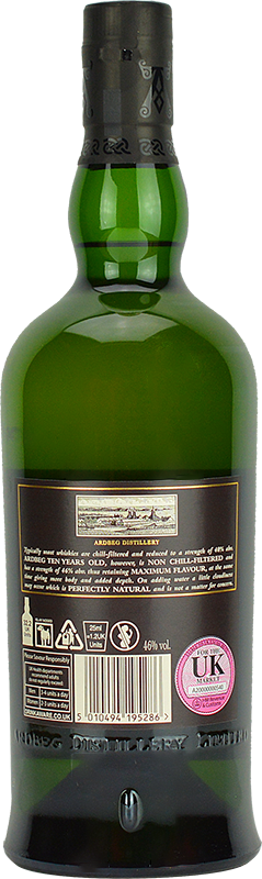 Personalised Ardbeg 10 Year Old Whisky 70cl engraved bottle