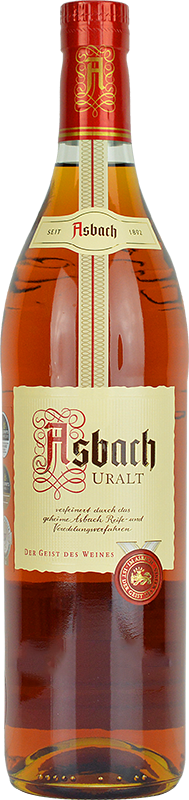 Personalised Asbach Uralt Brandy 70cl engraved bottle