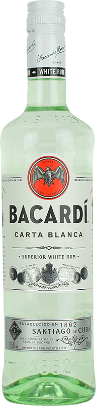 Personalised Bacardi Carta Blanca Rum 70cl engraved bottle