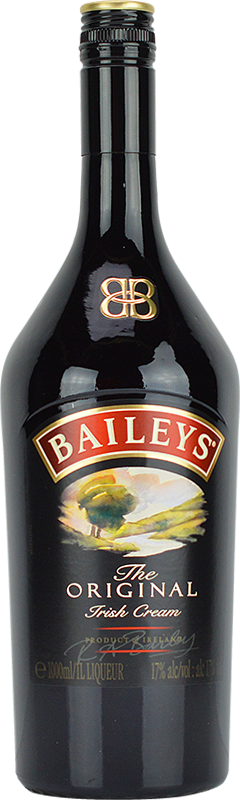 Engraved text on a bottle of Personalised Baileys Irish Cream Liqueur 1 Litre