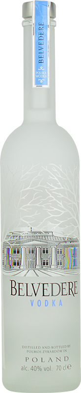 Engraved text on a bottle of Personalised Belvedere Vodka 70cl
