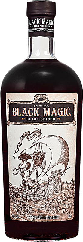 Personalised Black Magic Spiced Rum 70cl engraved bottle