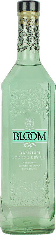 Engraved text on a bottle of Personalised Bloom Gin 70cl