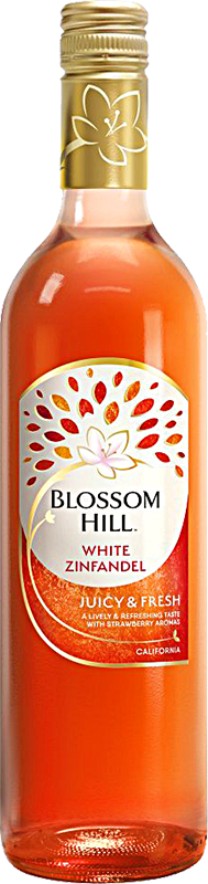 Engraved text on a bottle of Personalised Blossom Hill White Zinfandel Rose Wine 75cl