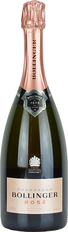 Engraved text on a bottle of Personalised Bollinger Rose Non Vintage Champagne 75cl