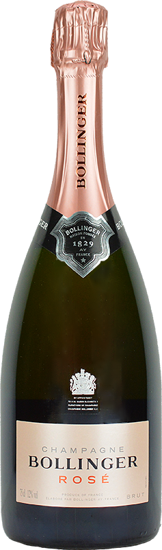 Personalised Bollinger Rose Non Vintage Champagne 75cl engraved bottle