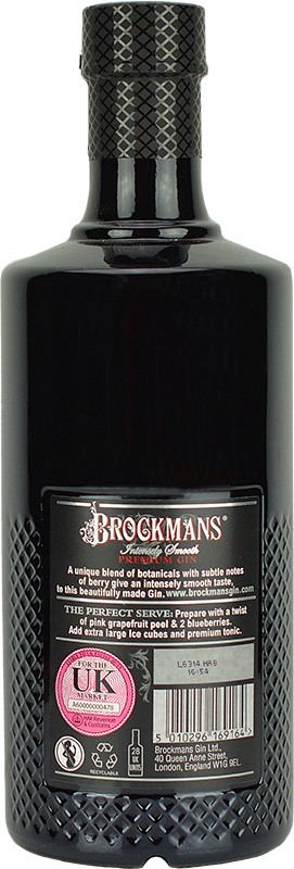 Personalised Brockmans Gin 70cl engraved bottle
