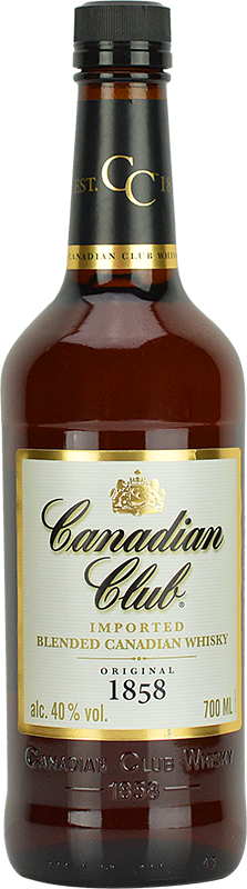 Personalised Canadian Club Canadian Whisky 70cl engraved bottle