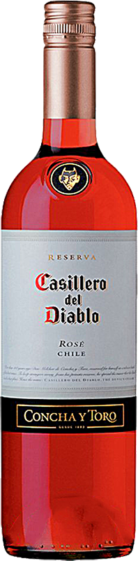 Engraved text on a bottle of Personalised Casillero del Diablo Shiraz Rose Wine 75cl