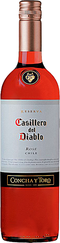 Personalised Casillero del Diablo Shiraz Rose Wine 75cl engraved bottle