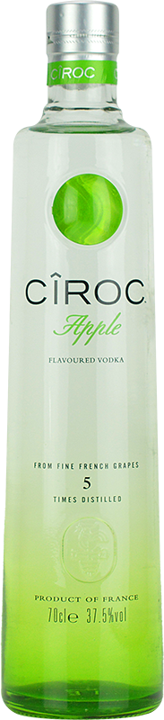 Personalised Ciroc Apple Vodka 70cl engraved bottle