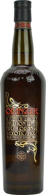 Personalised Compass Box Orangerie Blended Whisky 70cl engraved bottle