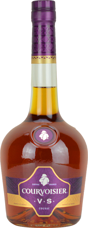 Engraved text on a bottle of Personalised Courvoisier VS Cognac 70cl