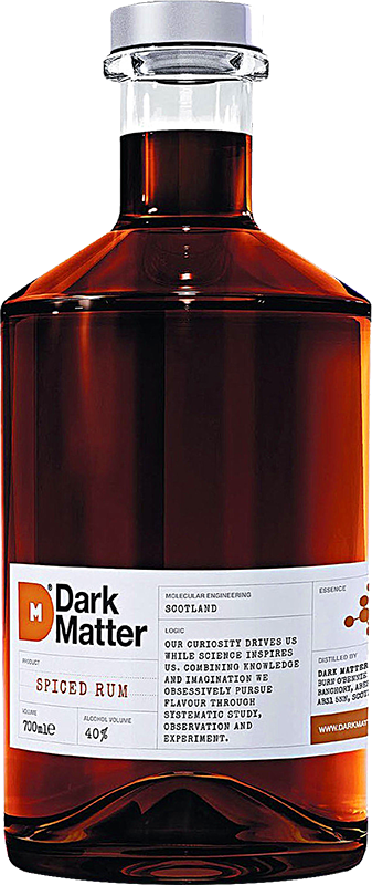 Personalised Dark Matter Spiced Rum 70cl engraved bottle