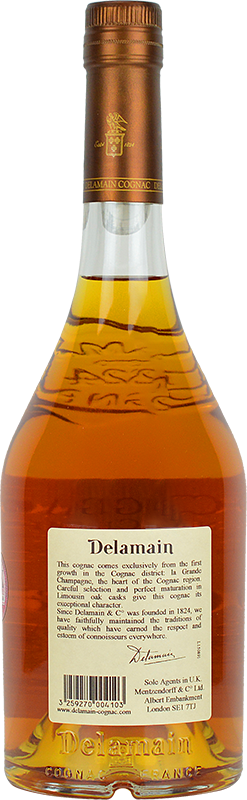 Personalised Delamain Pale & Dry XO Cognac 70cl engraved bottle