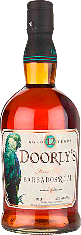 Personalised Doorly's 12 Year Old Rum 70cl engraved bottle