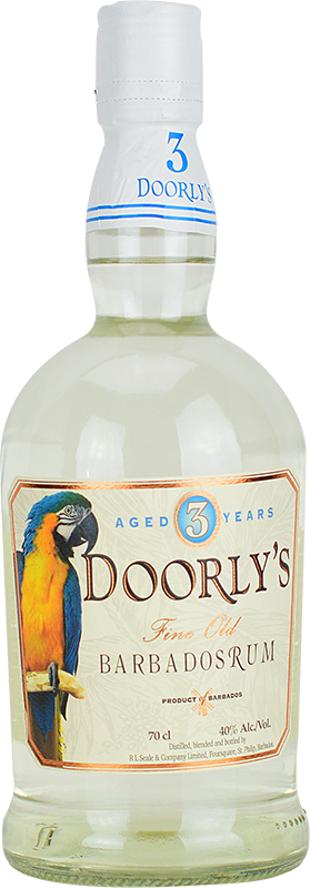 Personalised Doorlys 3 Year Old White Rum 70cl engraved bottle