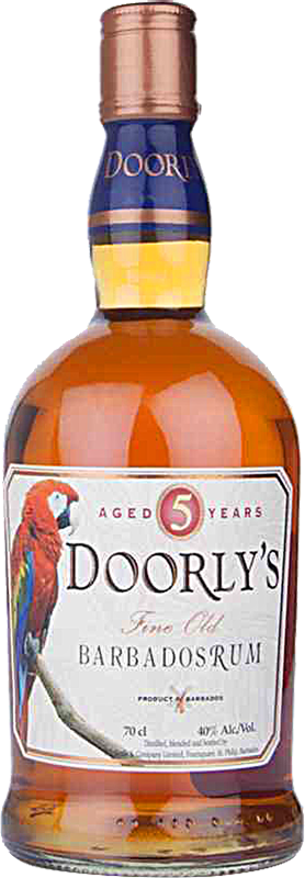 Personalised Doorlys 5 Year Old Gold Rum 70cl engraved bottle