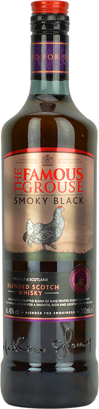 Personalised Famous Grouse Smoky Black Whisky 70cl engraved bottle
