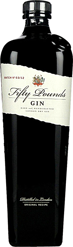 Personalised Fifty Pound Gin 70cl engraved bottle