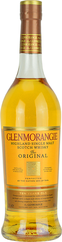 Engraved text on a bottle of Personalised Glenmorangie 10 Year Old Original Whisky 70cl