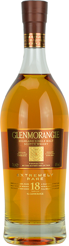 Engraved text on a bottle of Personalised Glenmorangie 18 Year Old Whisky 70cl