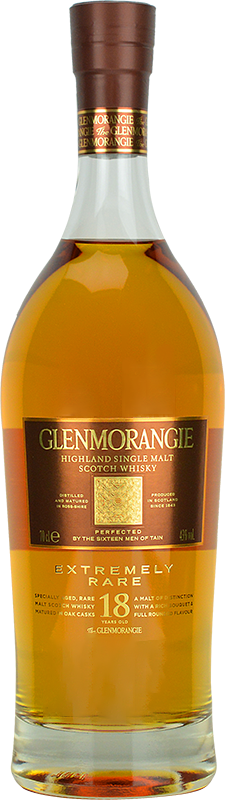 Personalised Glenmorangie 18 Year Old Whisky 70cl engraved bottle