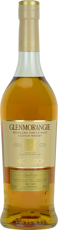Personalised Glenmorangie Nectar D'Or Whisky 70cl engraved bottle