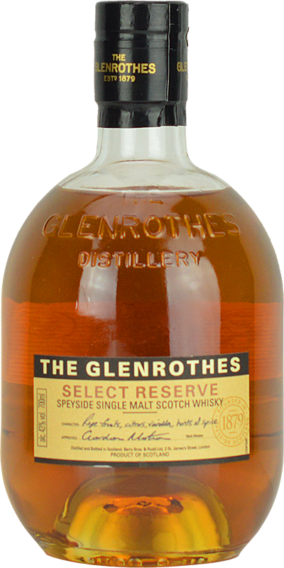 Engraved text on a bottle of Personalised Glenrothes Select Reserve Whisky 70cl
