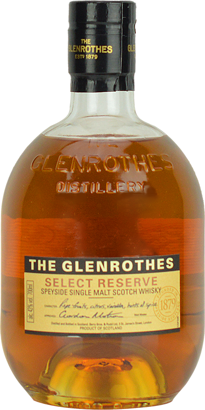 Personalised Glenrothes Select Reserve Whisky 70cl engraved bottle