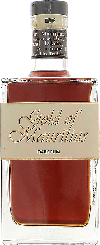 Personalised Gold of Mauritius Dark Rum 70cl engraved bottle