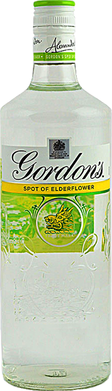 Personalised Gordons Elderflower Gin 70cl engraved bottle