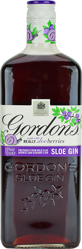 Engraved text on a bottle of Personalised Gordons Sloe Gin 70cl