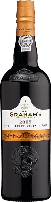 Engraved text on a bottle of Personalised Graham's Late Bottled Vintage Port 75cl