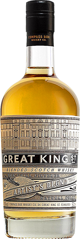 Personalised Great King Street Artists Blend Whisky 70cl engraved bottle