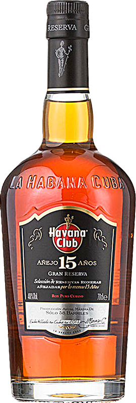 Personalised Havana Club 15 Year Old Rum 70cl engraved bottle