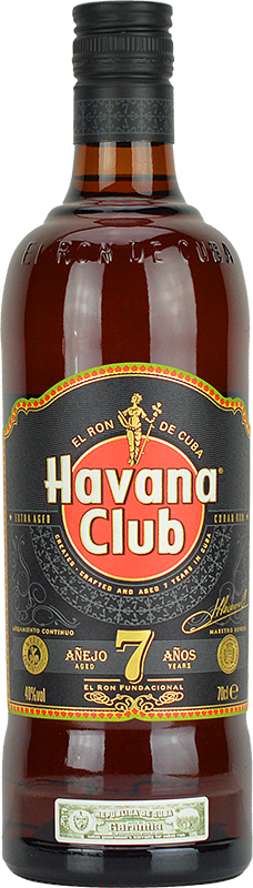 Engraved text on a bottle of Personalised Havana Club 7 Year Old Rum 70cl