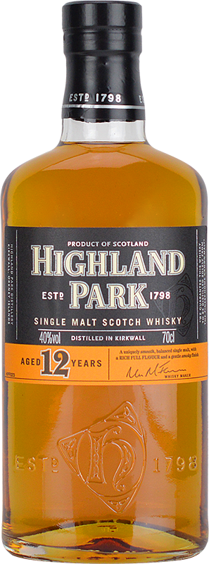 Personalised Highland Park 12 Year Old Whisky 70cl engraved bottle