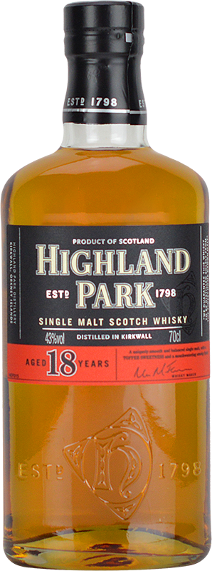 Personalised Highland Park 18 Year Old Whisky 70cl engraved bottle