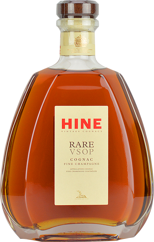 Engraved text on a bottle of Personalised Hine Rare VSOP Cognac 70cl
